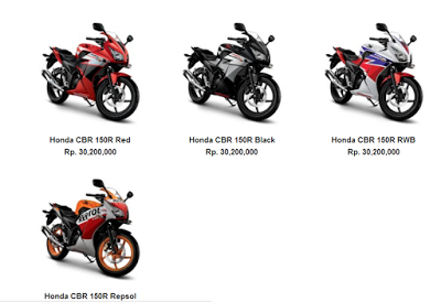 Harga All New Honda CBR 150R 2016
